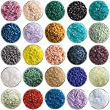 Super Mega Fusible Glass Coarse Frit Sampler Pack Number 2-25 Colors, 90 COE - Made From Bullseye Glass by New Hampshire Craftworks