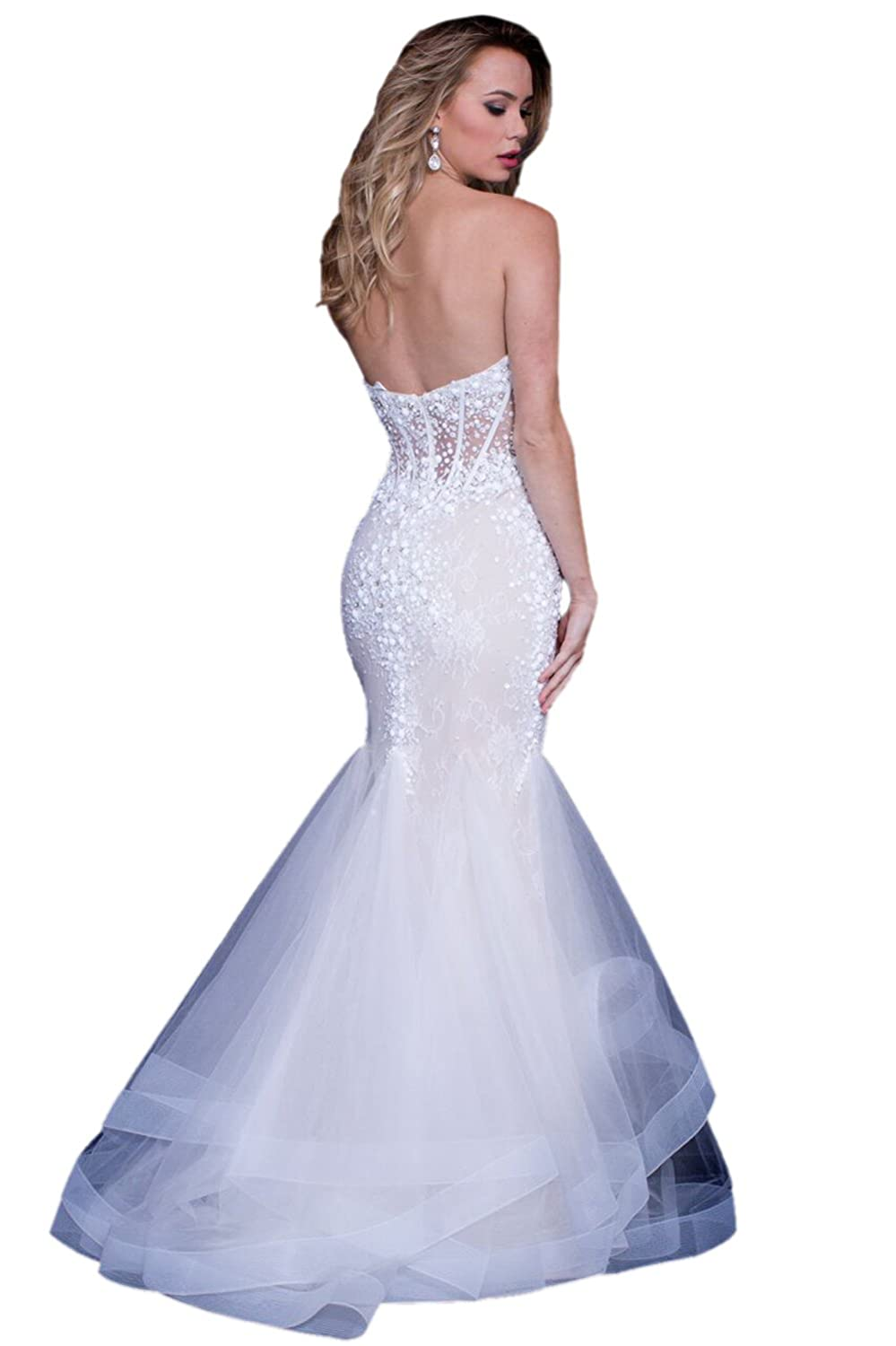 Jovani Prom 2018 Dress Evening Gown Authentic 57428 Long Off White at Amazon Womens Clothing store: