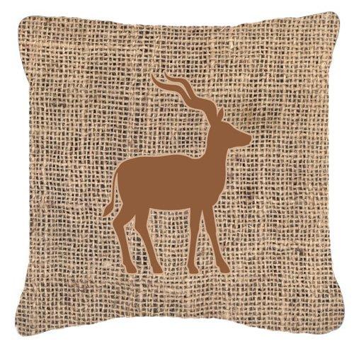 Caroline's Treasures Deer Burlap & Brown Canvas Fabric De...