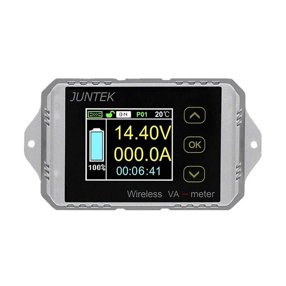 400V 300A DC Multifunctional 2.4G Wireless Digital Bi-directional Voltage Current Power Meter Ammeter Voltmeter Capacity Coulomb Counter (DC 0-400V 0-300A)