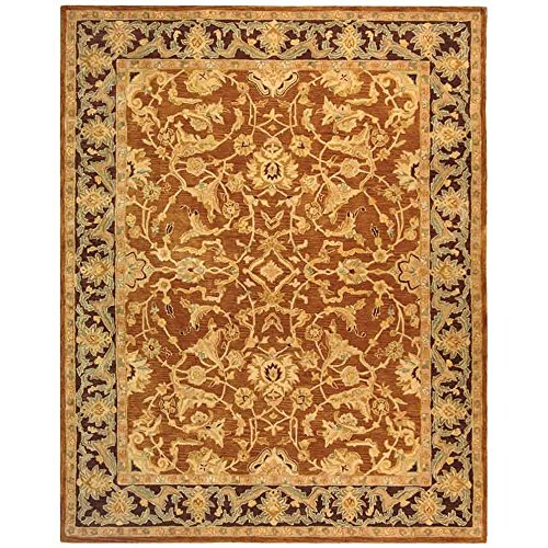 Brown Plum - Safavieh Anatolia Collection AN545A Handmade Traditional Oriental Brown and Plum Wool Area Rug (9' x 12')