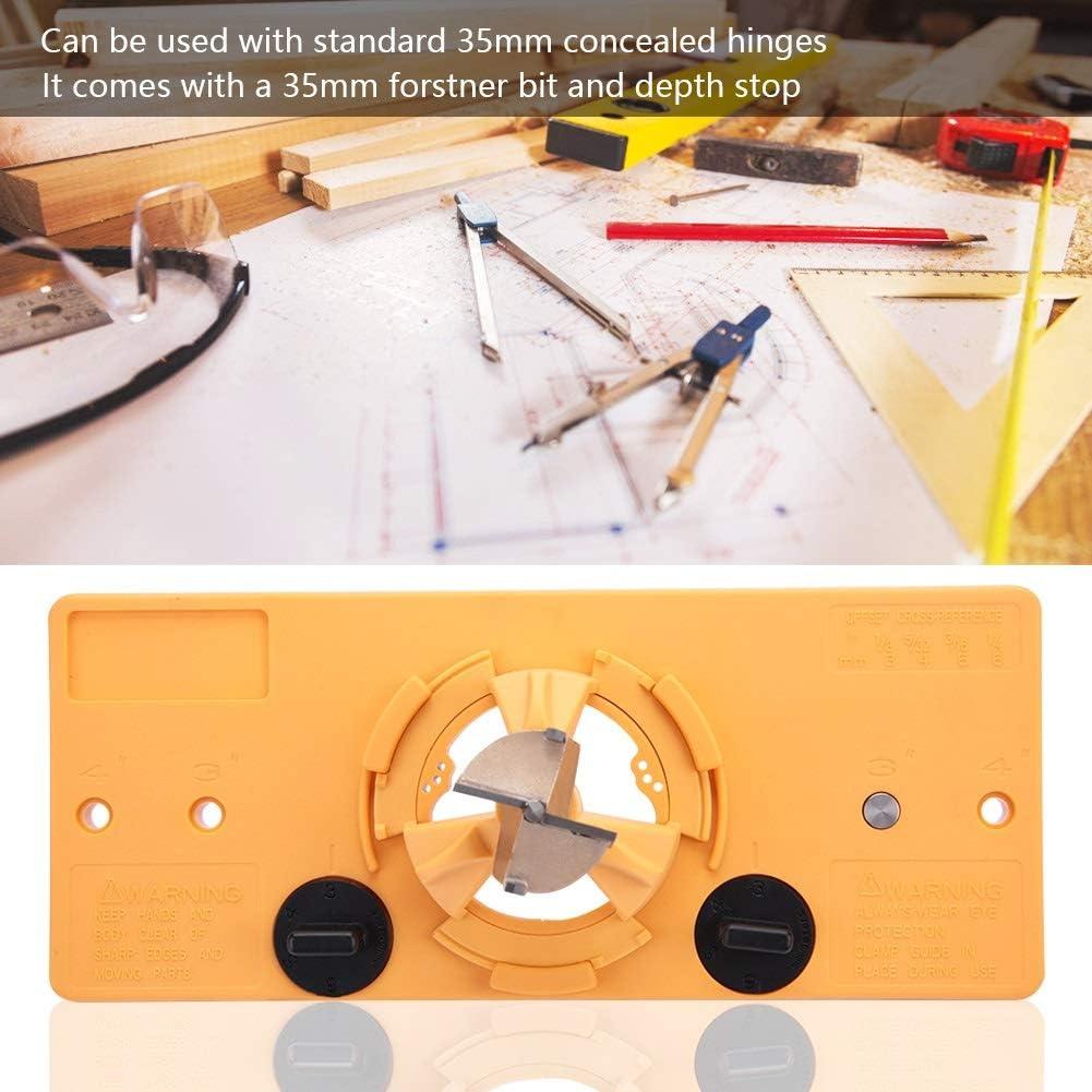 35MM Hinge Boring Jig Bohrbuchse Set Cup Stil T/ür lnstallations/öffnung Locator for Holzbearbeitungs Hinge Bohrlehre