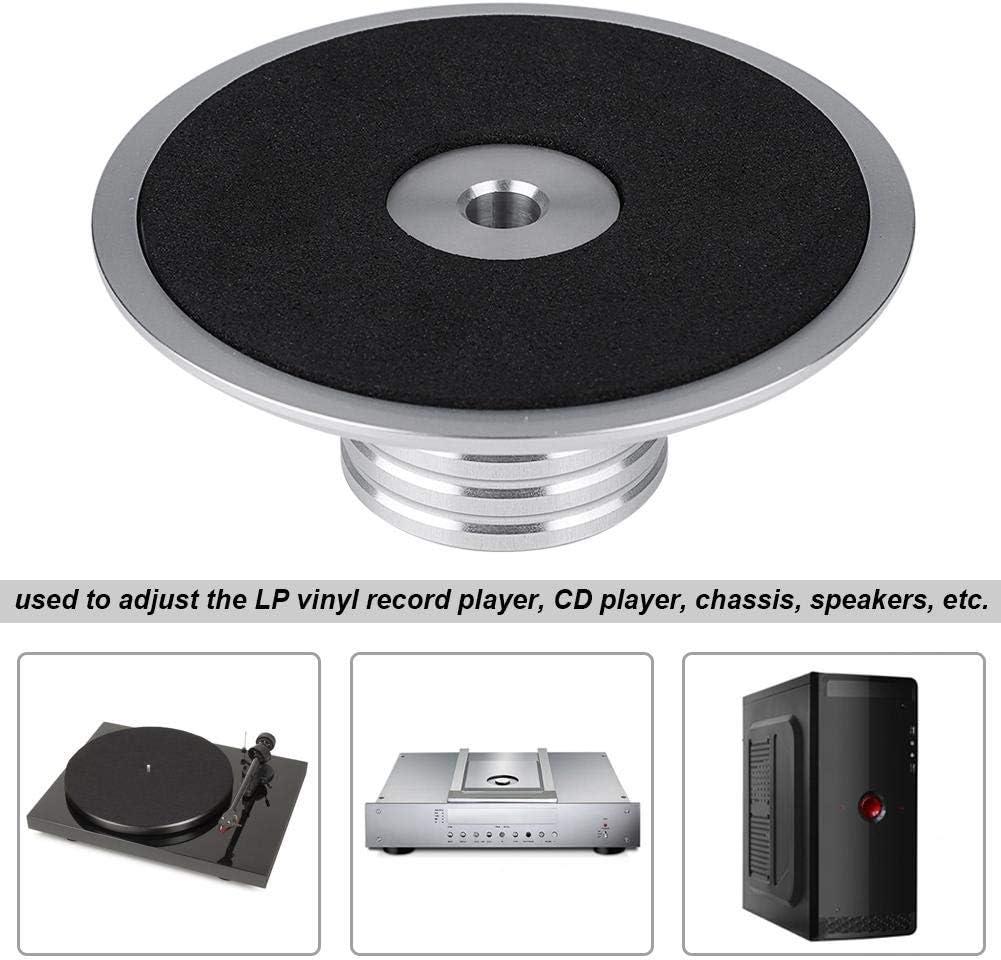 Tangxi Abrazadera de Peso de grabaci/ón Silver Tocadiscos de Aluminio Reproductor de Discos de Vinilo para LP Reproductor de Discos de Vinilo Abrazadera de estabilizador de grabaci/ón de Disco