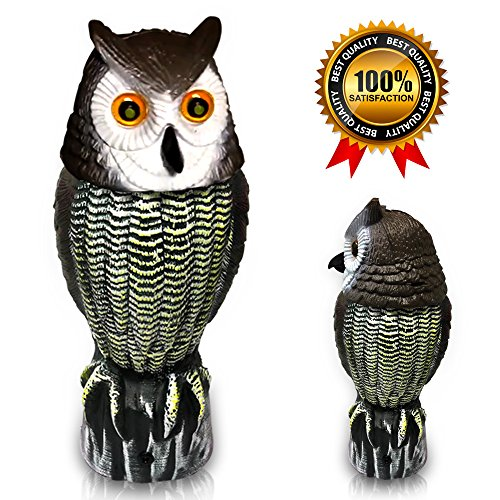 Scarecrow Dummy Owl Decoy Predator Bird Repellent,Works for Deers and Rabbits, (1) Only Dummy