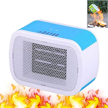 Mini Espacio Abanico Calentador 500w Individual Portátil Eléctrica Ceramica Calefacción Tranquilo Ajustable Temperatura Ahorro De Energia