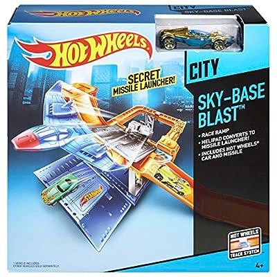 Hot Wheels Sky-Base Blast Track Set: Toys & Games