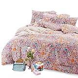 Wake In Cloud - Bohemian Duvet Cover Set, 100% Soft Cotton Bedding, Boho chic Mandala Printed, with Zipper Closure (3pcs, Full Size)