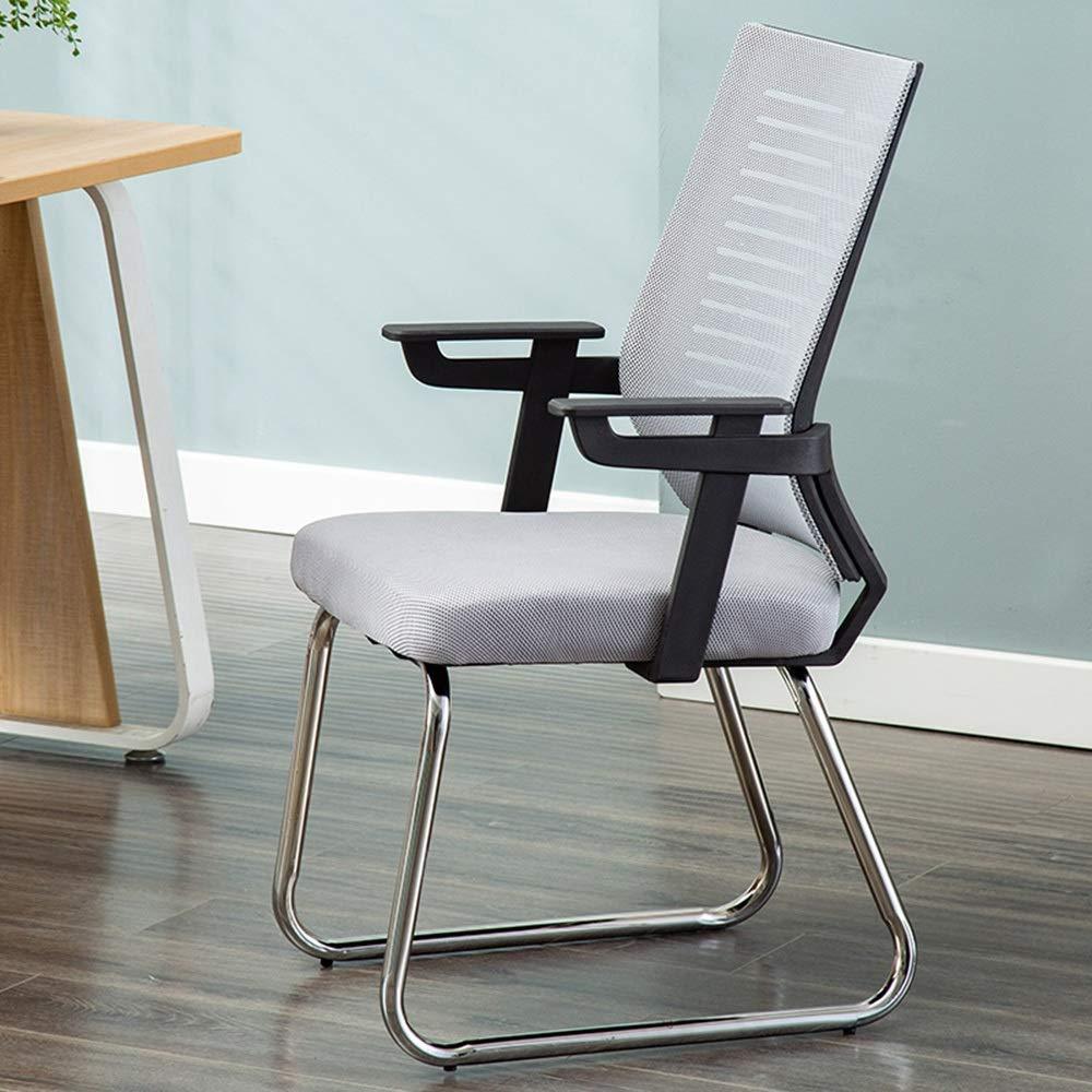 JIEER-C stol verkställande stol, ergonomiskt ryggstöd rosett fot student datorstol strömlinjeformad armstöd design hem kontor stol uppskattad lastkapacitet: 150 kg, svart Grått