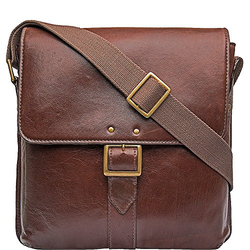 HIDESIGN Vespucci Medium Vertical Messenger, Brown by HIDESIGN