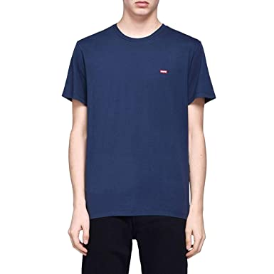 Levis SS Original Hm tee, Camiseta para Hombre, Azul (Cotton + Patch Dress