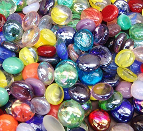 Miracolors 1 Lb - Mixed Colors Glass Gems - Vase Fillers (12-19mm