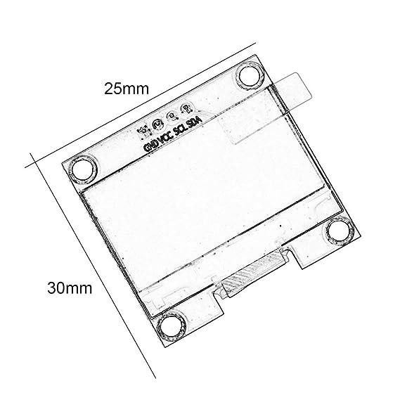 Amazon Com Baynne 1 3 Inch 4 Pin I2c Iic Serial 128x64 Oled Lcd Led