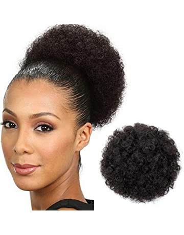 AISI QUEENS Afro Puff Drawstring Ponytail for Black Women Curly Hair  Ponytail Extension 67e8bed373de