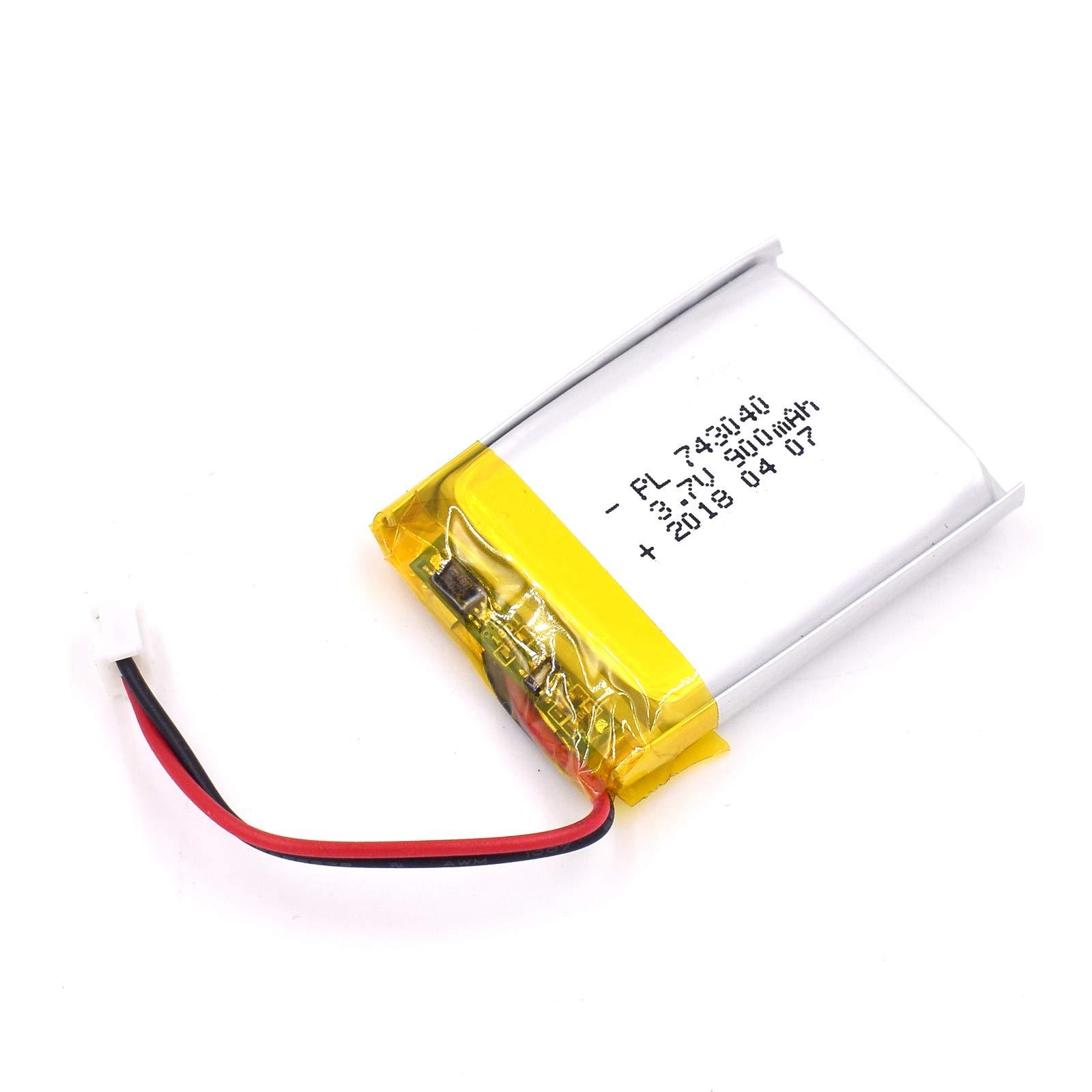 Bateria Lipo 3.7V 900mAh 743040 Recargable JST Conector