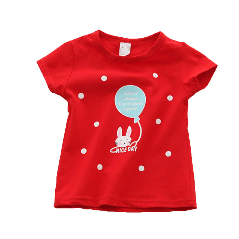 Endand 2019 Baby Girl T Shirts Tops Cotton Shorts t Shirts Casual Baby Girl Summer Clothes Birthday Baby Girl Shirts Clothing