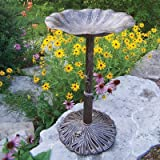Oakland Living Lily Bird Bath, Antique Bronze