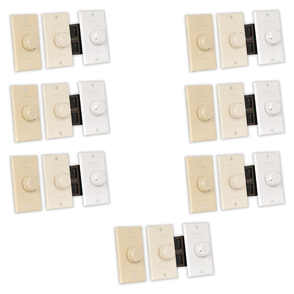 Theater Solutions TSVCD Indoor Speaker Volume Controls 3 Color Dial Audio Switches 7 Piece Pack