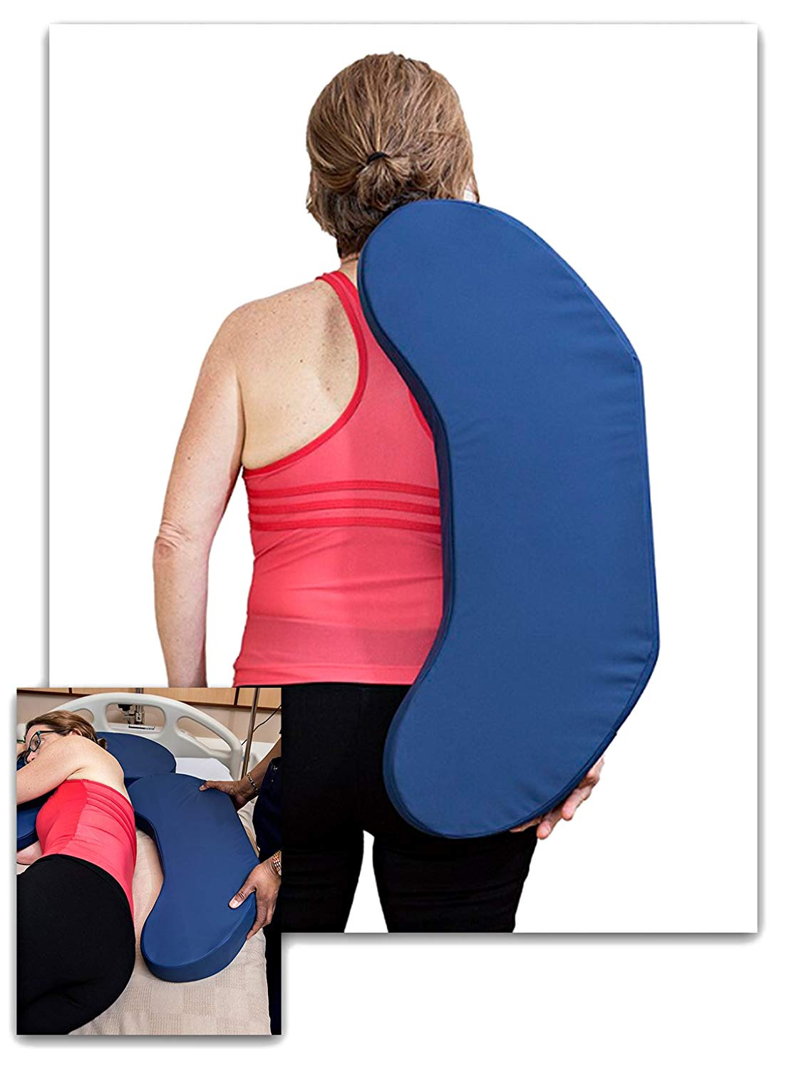 Jewell Nursing Solutions Turning Wedge for Patients – Positioning Hospital Pad with Contoured Sacral Coccyx Area and Pressure Distribution Layered Foam to Deter Bed Sores
