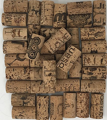 Crafting Wine Corks Brand New, All Natural & Same Size With Printed Marked, Craft Grade Meant for Arts, Crafts, Decor. No Agglomerated or Synthetic. Not For Bottling. (250) by Pro-Grade (Image #1)