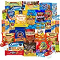 College Students Care Package Sweet & Salty Snacks Assortment (40 Count) from Snack Chest