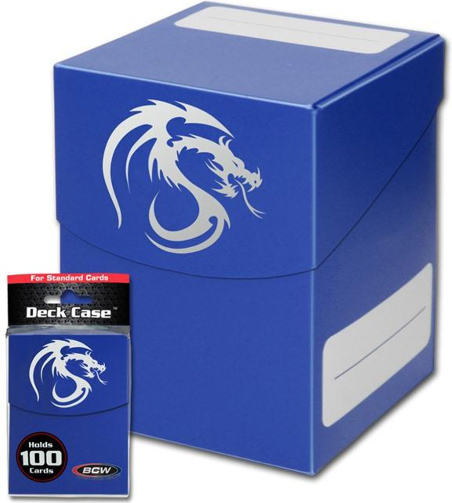 Blue Trading Card Boxes - Gaming Deck Cases - Each Holds 100 Cards - DCLG-BLU - (60 Boxes) by BCW