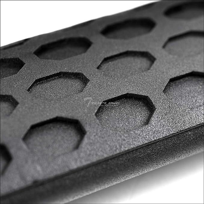 Topline Autopart Matte Black Hoop Drop Step Side Nerf Bars Rail Running Boards For 07-14 Toyota FJ Cruiser