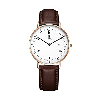 White Ladies Leather Fashion Watch With Flower Face Armband- & Taschenuhren Uhren & Schmuck