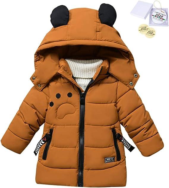 SXSHUN Bambino Giacca Impermeabile Invernale Cappotto Imbottito in Cotone con Cappuccio da Ragazzi