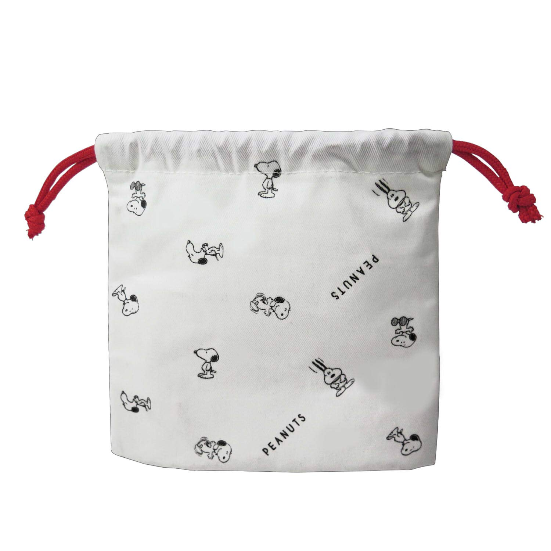 1252cd07c7cd Amazon.com: BEE SS (BSS) Snoopy Drawstring Bag / S White 295972 ...