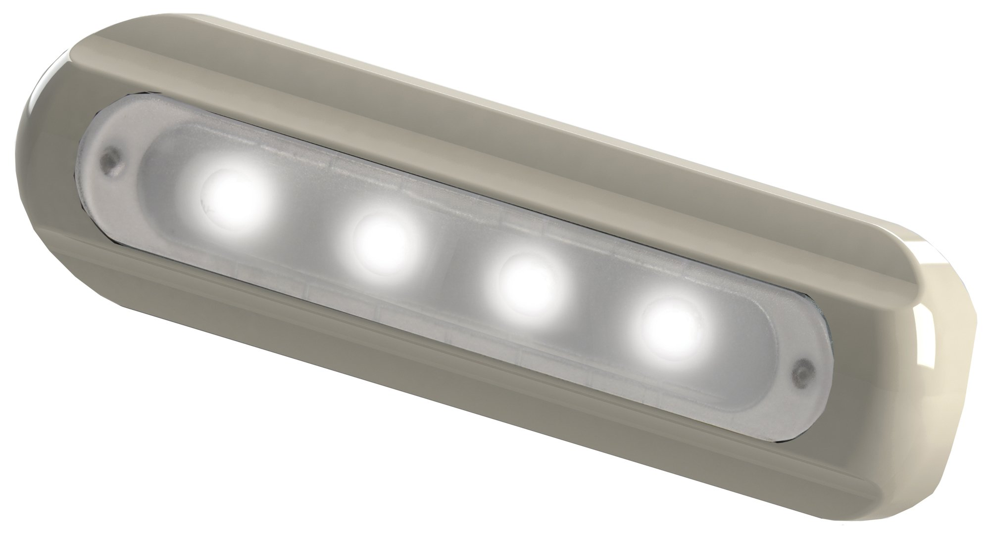 Taco Metals 4 LED Deck Light Flat Mount White Housing 4 LED Deck Light,