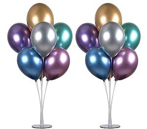 """PILIN Kit de Soporte de Globos de Mesa de 28 """"de Altura para Decoraciones de Fiestas de cumpleaños y Decoraciones de Bodas, Decoraciones de Globos de Feliz cumpleaños para Fiestas y Navidad(2 Pack)"""