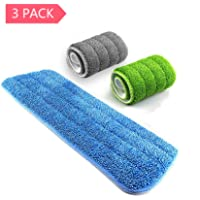 3 Piece Samshow Mop Microfiber Cleaning Pads (16.5 x 5.5 Inch)