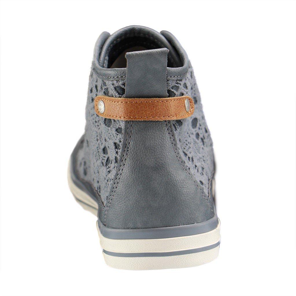 Mustang Shoes High Top Sneaker in Übergrößen Blau 1146 507 875 große Damenschuhe