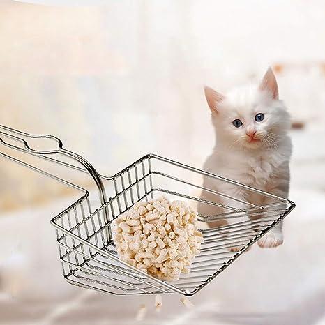 PowerBH Pala de arena para gatos con mango de cinta de acero ...