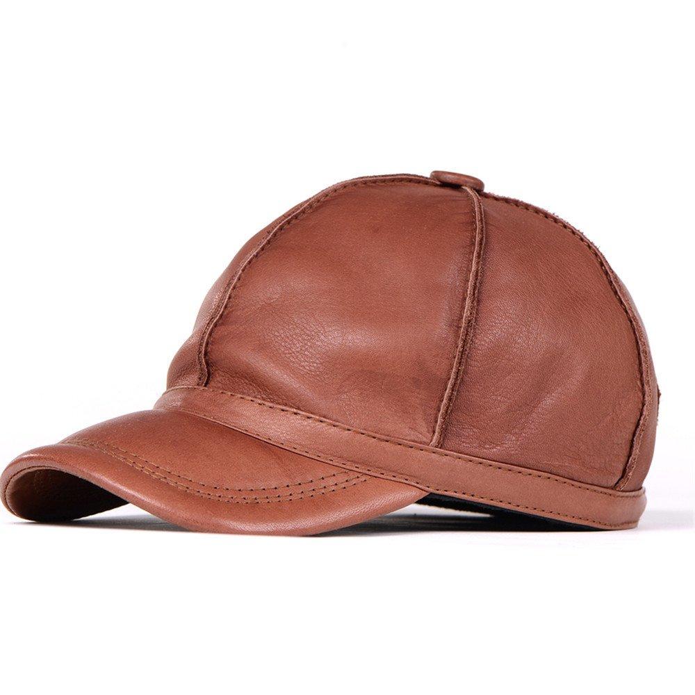 Gorra de cuero Hat invierno cálido invierno ocio macho macho macho algodón hat hat tamaño ajustable ...