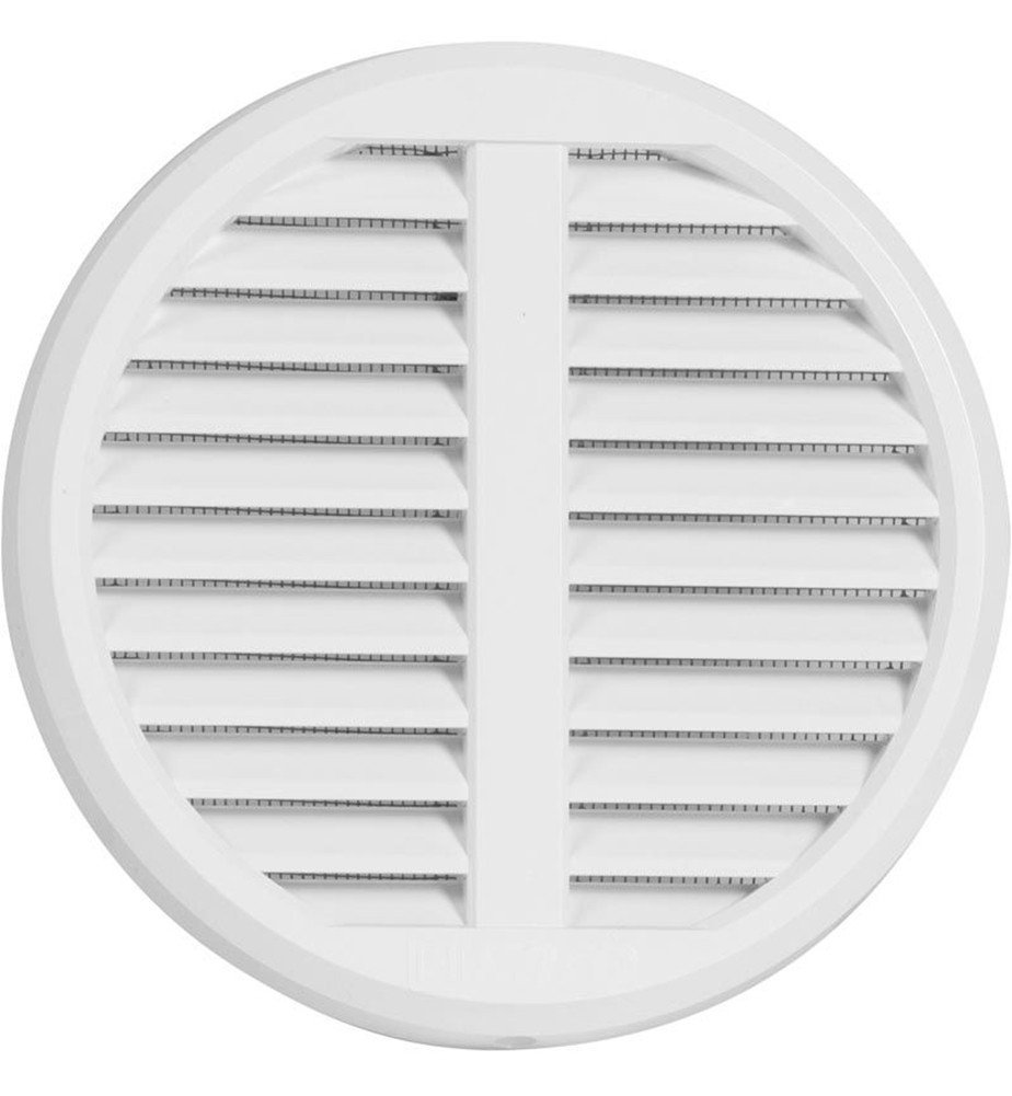 Plastic Ventilation Grille with Insect Protection, Adjustable for Pipes from 75–125mm, Cover Dimension 175mm Cover Dimension 175mm Haco