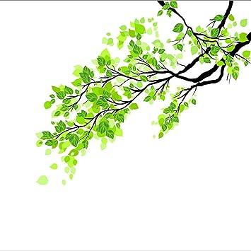 Amazonde Huntgold Abnehmbar Mattiert Frisch Grüne Blätter Zweig