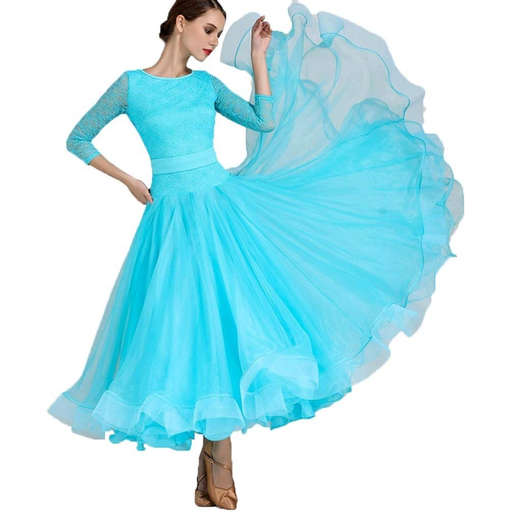 【メーカー直売】 女性のための全国標準の社交ダンスドレスダンスダンスウェアレースの袖現代ワルツタンゴダンスパフォーマンス衣装グレートスイング B07QCT5BMV B07QCT5BMV XL ブルー XL|ブルー ブルー XL, TANGLE TEEZER JAPAN:97de1678 --- a0267596.xsph.ru