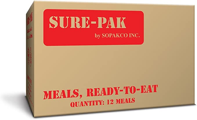 Sure Pak MRE - Pack de 12 cajas de comida con calentador de raciones sin llama: Amazon.es: Deportes y aire libre