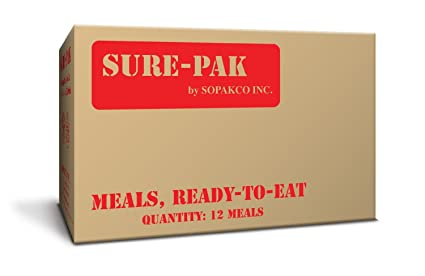 Sure Pak MRE Meals Ready To Eat Case Pack Of 12 For Survival And Emergency fe95933844