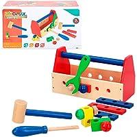 WOOMAX- Caja de herramientas de madera (Color Baby