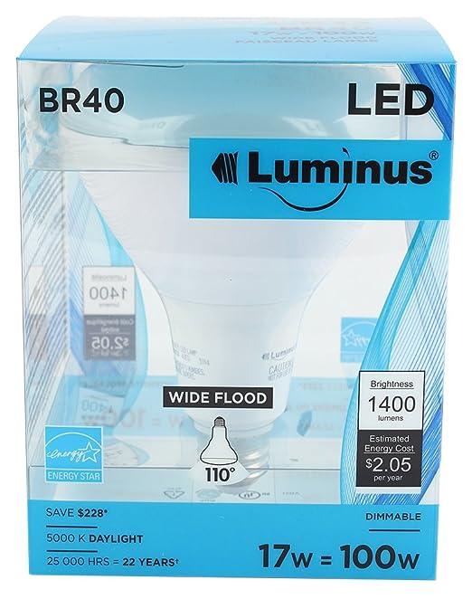 Luminus PLYC5635 BR40 17W 1400-Lumen Day Light 5000K Dimmable LED Light Bulb - - Amazon.com  sc 1 st  Amazon.com & Luminus PLYC5635 BR40 17W 1400-Lumen Day Light 5000K Dimmable LED ... azcodes.com