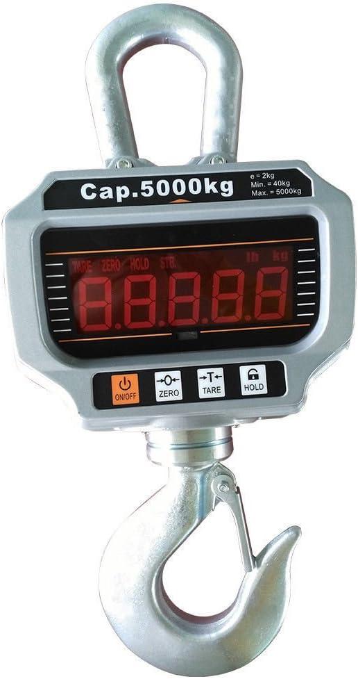 OUKANING OCS-T 5000KG Patalla LED Inteligente Báscula Electrónica Digital Portátil con Gancho Resistente Crane Escala Industrial