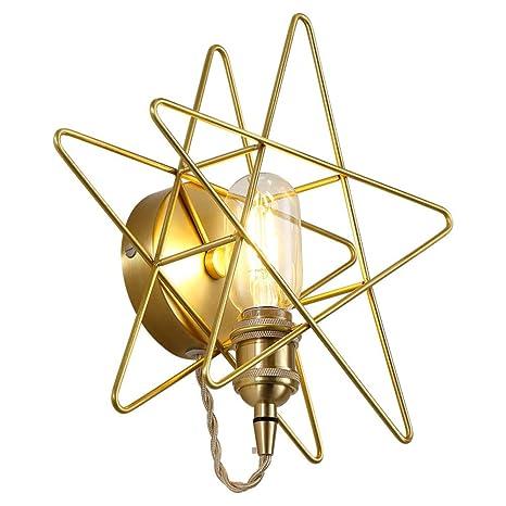 Amazon.com: CUICAN Cobre Decorativo de Pared Sconce,LED E26 ...
