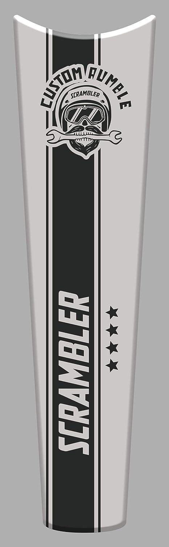 Tankpad Sticker Protection de Reservoir Moto Autocollant en Gel compatible pour D.ucati Scrambler Custom Rumble v3