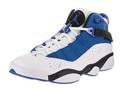 the latest 1bcb2 c4913 Jordan 6 Rings Mens Fashion-Sneakers 322992-400 11.5 - Team Royal Black-White-Metallic  Silver  Buy Online at Low Prices in India - Amazon.in