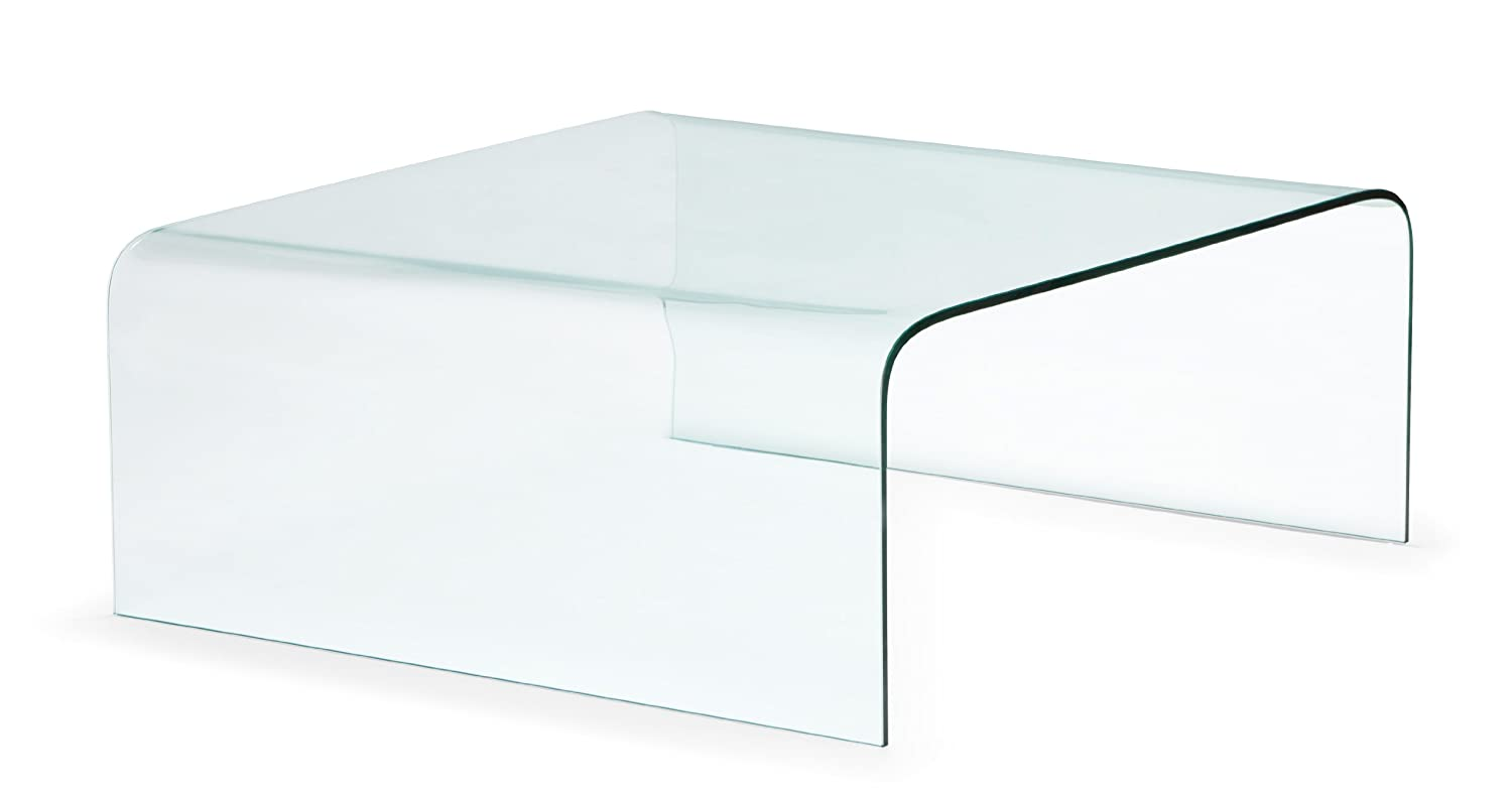 Acrylic Glass Coffee Table Amazoncom Zuo Modern Sojourn Coffee Table Clear Kitchen Dining