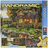 Masterpieces Peace Like A River Panoramic Jigsaw Puzzle (1000-Piece), Art by Kim Norlien