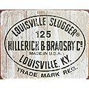 Louisville Slugger - 125 Logo Tin Sign 16 x 13in