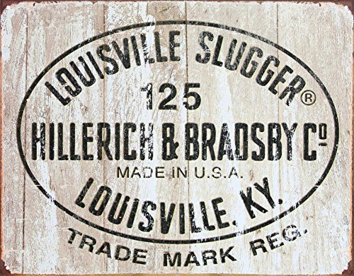 Louisville Slugger - 125 Logo Tin Sign 16 x 13in for $<!--$11.81-->